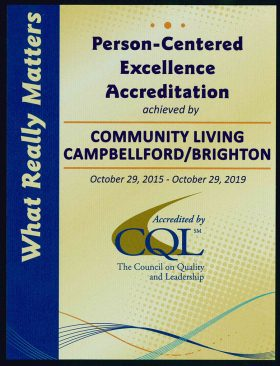 Accreditation Plaque 2015
