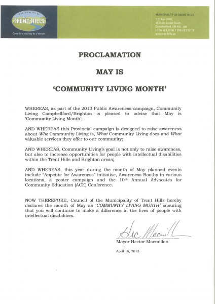 CL Month Proclamation 2013