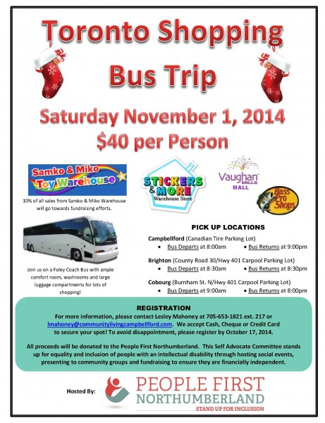 Toronto Bus Shopping Trip Flyer
